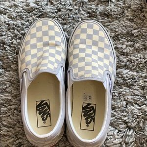 barely worn checkered vans